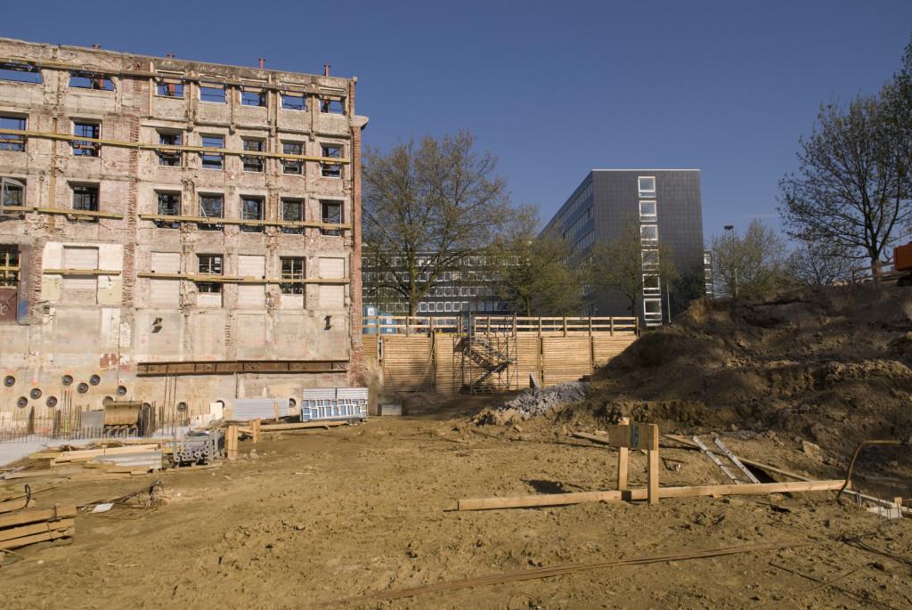 Hier befand sich das Filmstudio, Mai 2008
