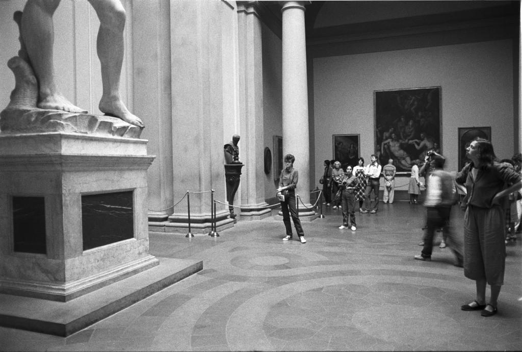 Florenz, Touristen vor der David-Skulptur