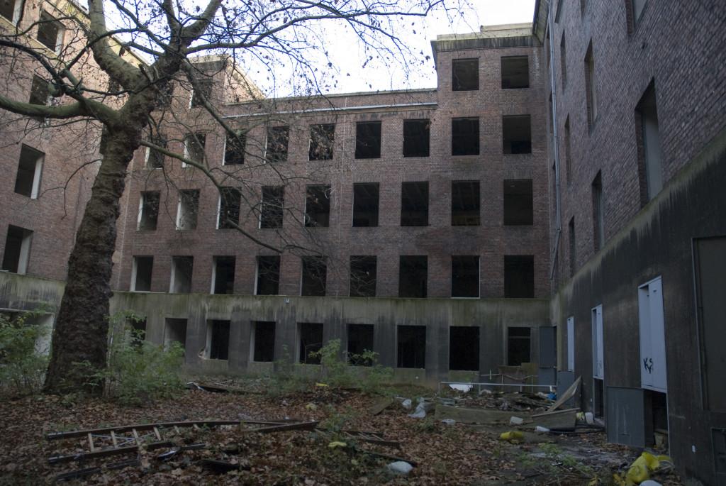 Innenhof des Glückauf-Hauses, November 2007