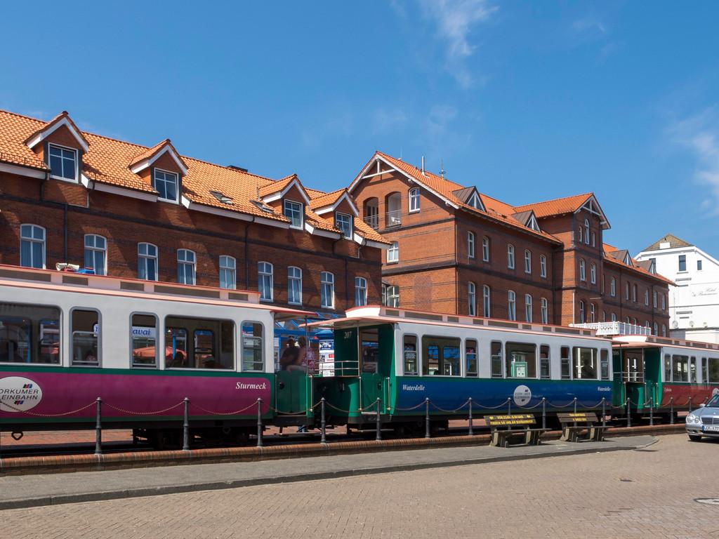 Bahnhof  der Borkumer Kleinbahn im Zentrum von Borkum