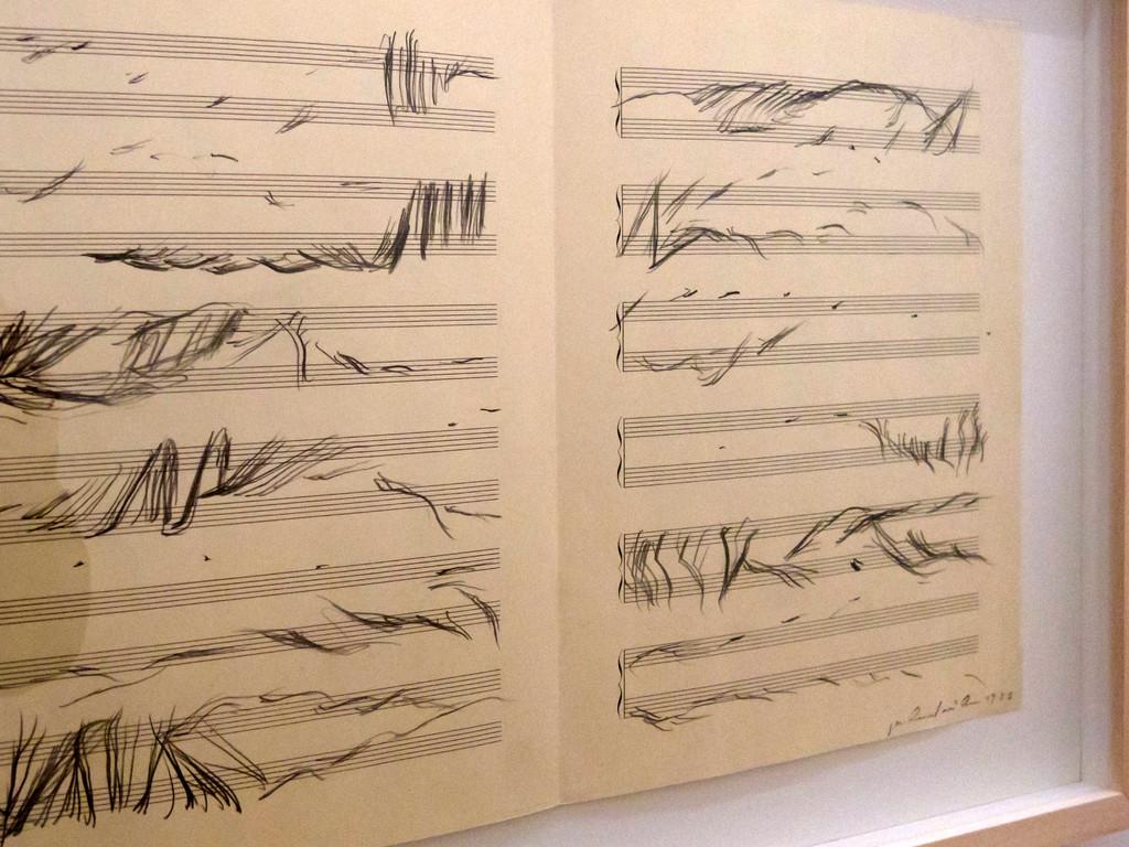 Gerhard Rühm, aus der Serie Visuelle Musik, 1983