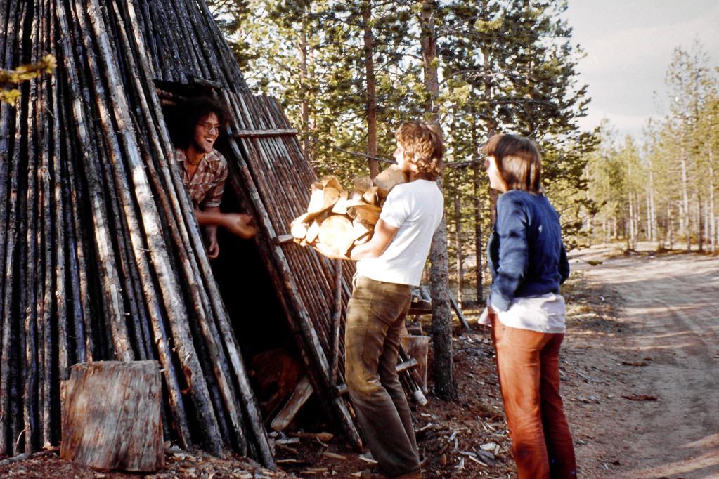 Holz für die Sauna
