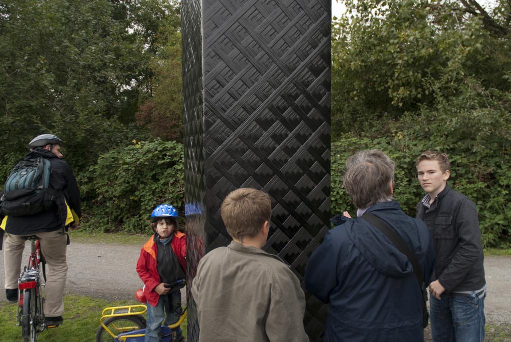 """Carbon Obelisk"" Rita McBride"