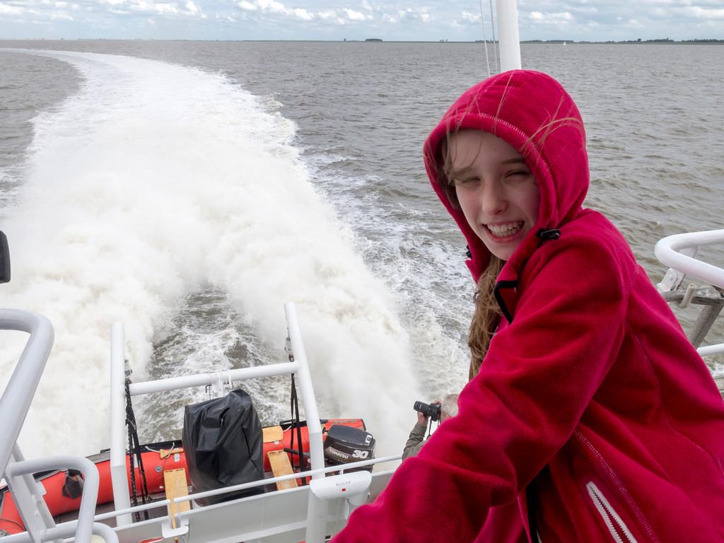 Fahrt mit dem Katamaran von Emden nach Borkum