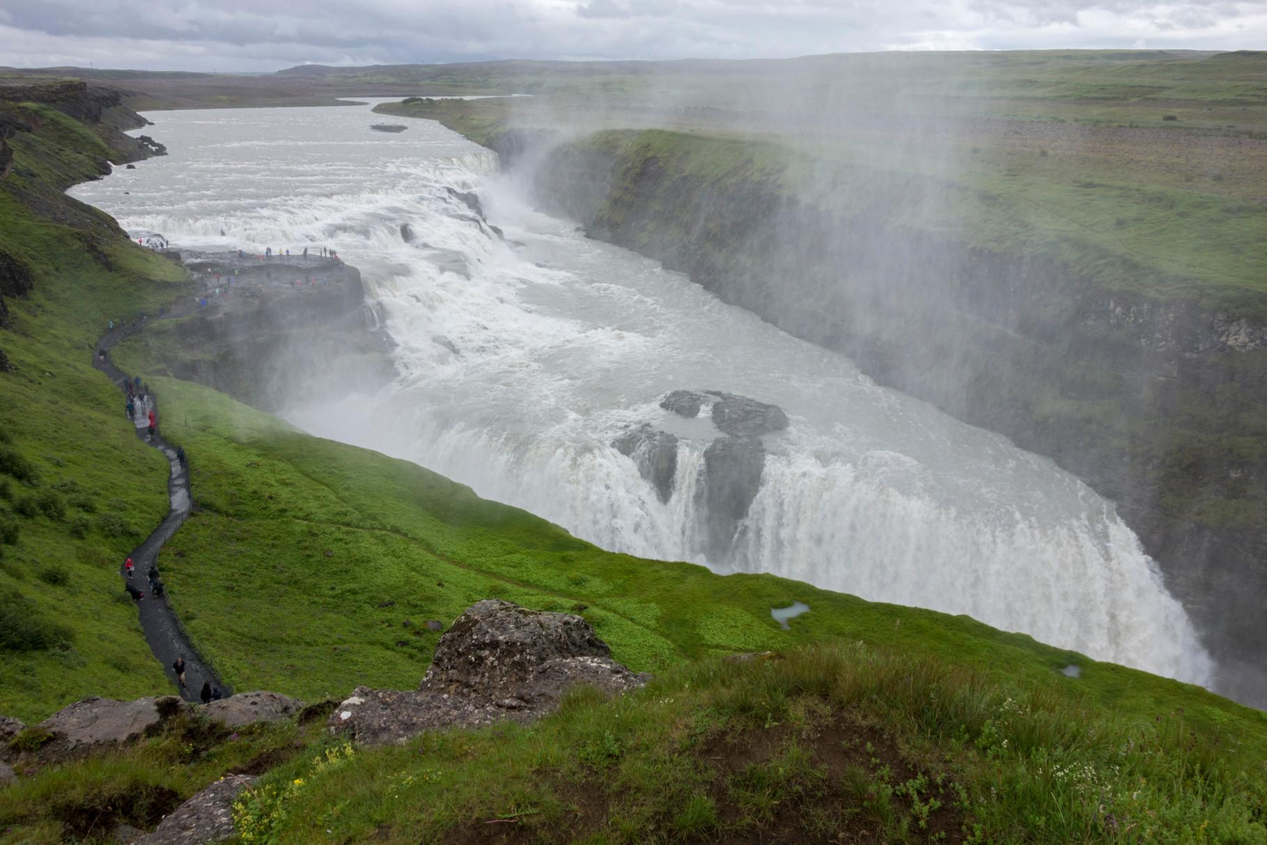 Gullfoss, der Goldene Wasserfall