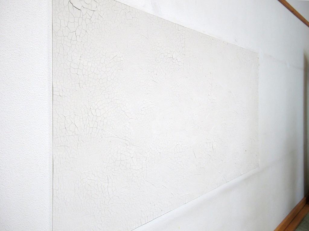 David Kroell, Selbsthäutende Wand, 2010, Ton, Pigment, Binder, Tiefengrund