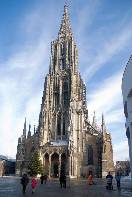Ulmer Münster mit 161m höchster Kirchturm weltweit