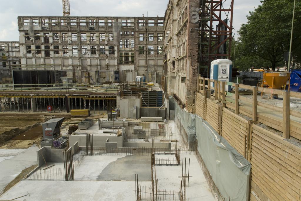 erste Fundamente für das Filmstudio, Juni 2008