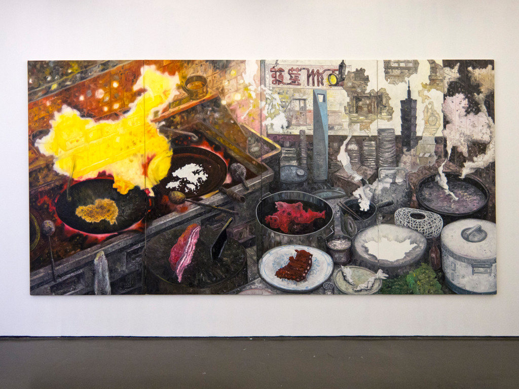 Oskar Oiwa, Asian Kitchen, 2008 (227x444cm)
