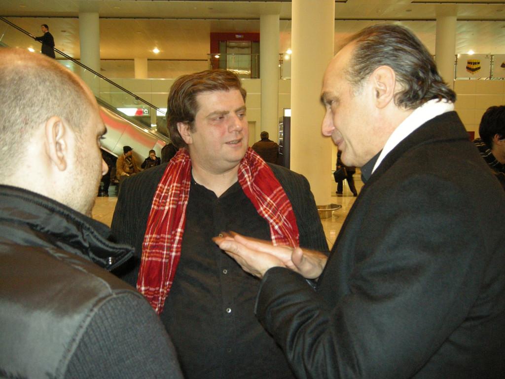 Abschied am Flughafen von Tiflis