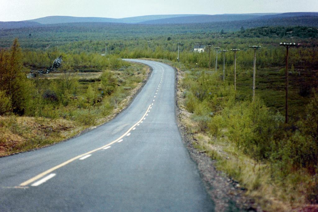 Straße in Nord-Lappland