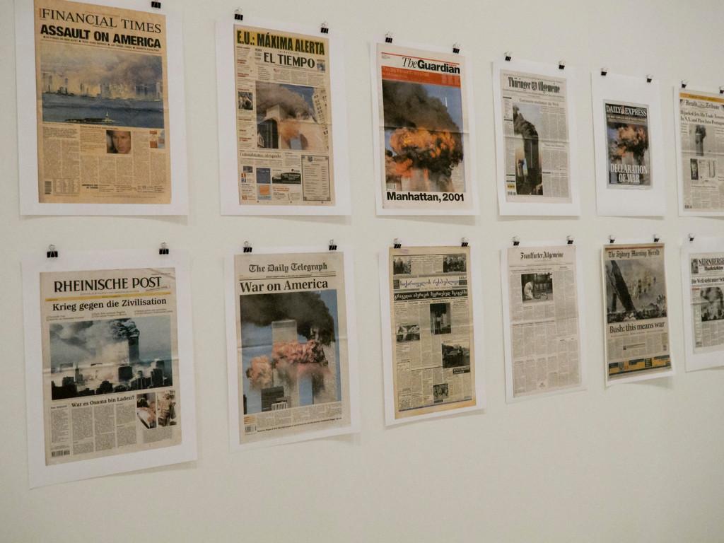 9/12 front page, Hans-Peter Feldmann (2001)