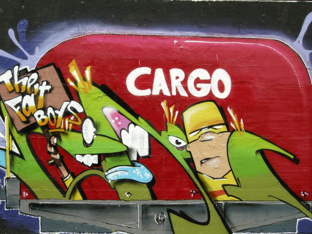 Graffitikunst im Hof der Brauerei