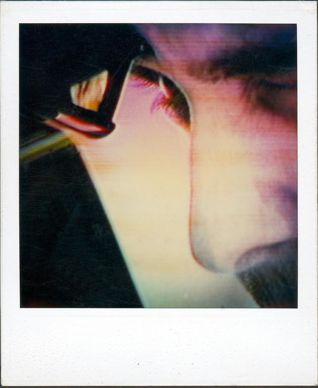 Mit der Polaroidkamera vom Bildschirm fotografiert, 1986