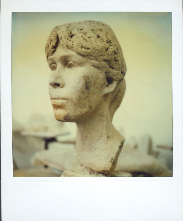 Portrait Petra Drieschner, Bildhauerklasse Prof. Max Kratz, Uni Essen, ca. 1985