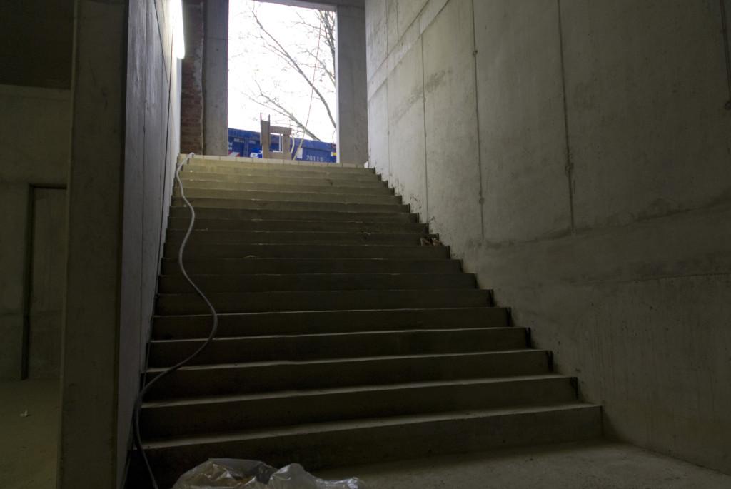 Treppenaufgang, Dezember 2008