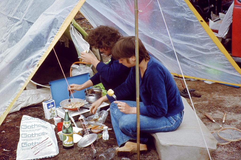 Zelten am Inari-See