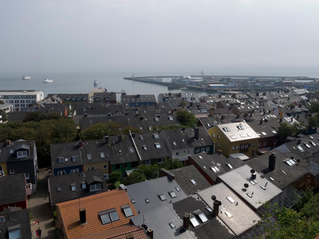 Blick auf das Unterland und den Hafen
