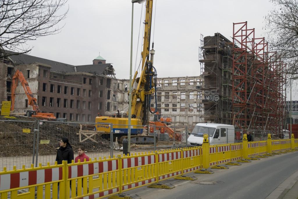 Blick von der Rüttenscheider Straße, Januar 2008