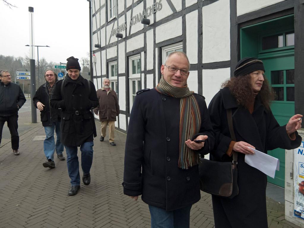 unsere Gruppe bei der Ankunft in Recklinghausen
