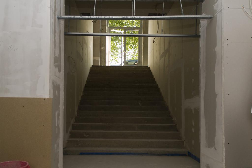 Eingangstreppe, Oktober 2009