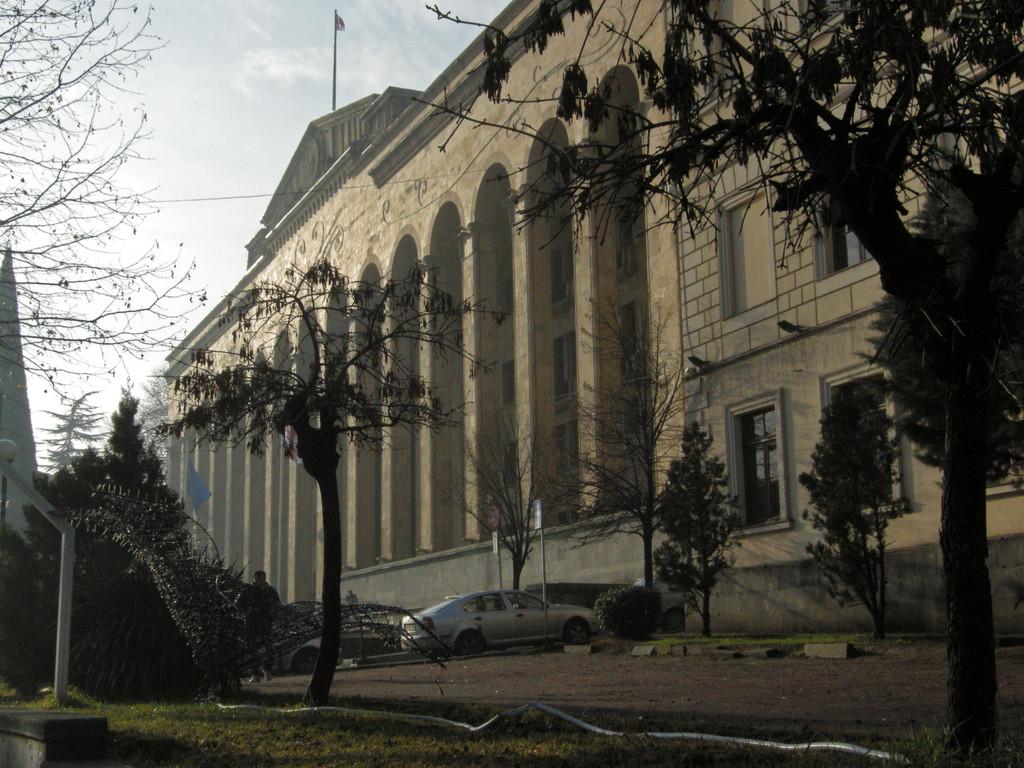 Parlamentsgebäude am Rustaveli Boulevard