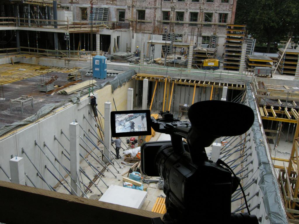 Kinosaal im Aufbau, September 2008