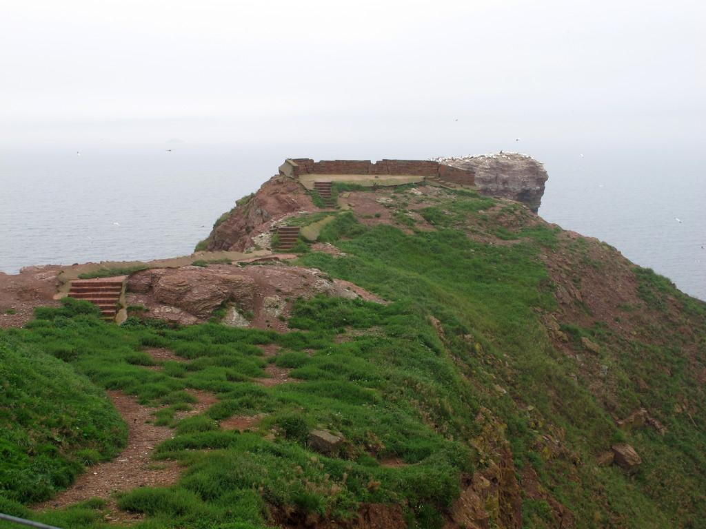 durch Erosion nicht mehr benutzbarer Teil des Klippenrandweges