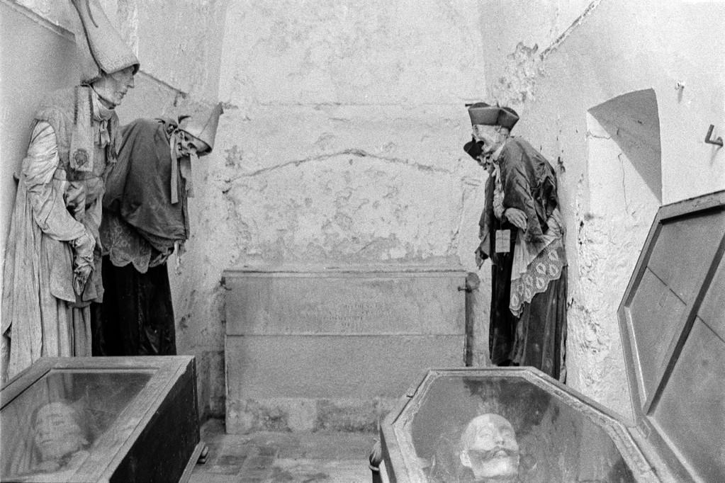 Gruftanlage unter dem Kapuzinerkloster in Palermo