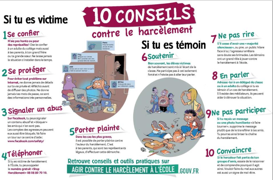 10 conseils en cas de harcèlement