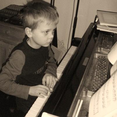 Klavierunterricht am Flügel