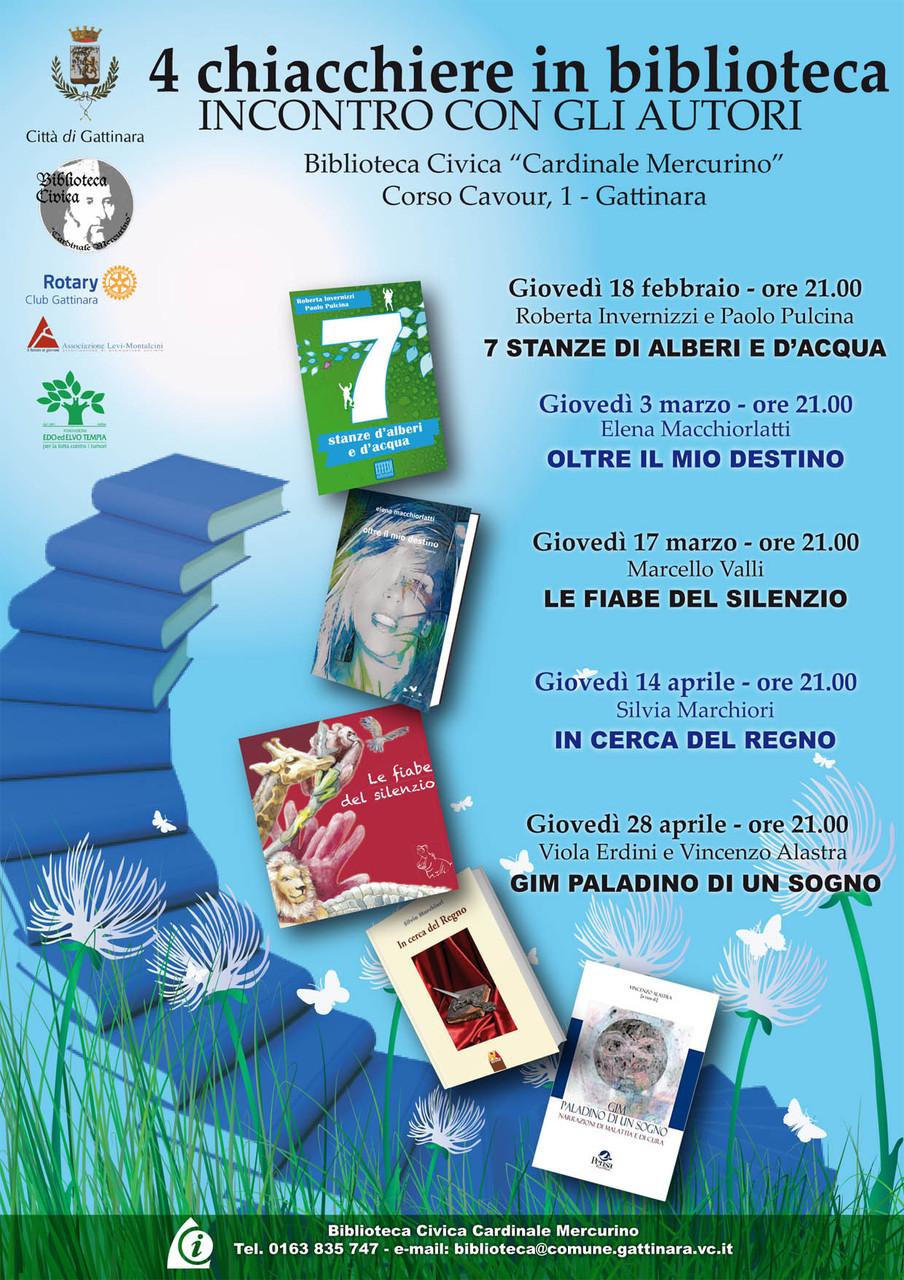 Quattro Chiacchiere in Biblioteca di Gattinara, Incontro con l'autore: Elena e Barbara, presentate da Piera Mazzone