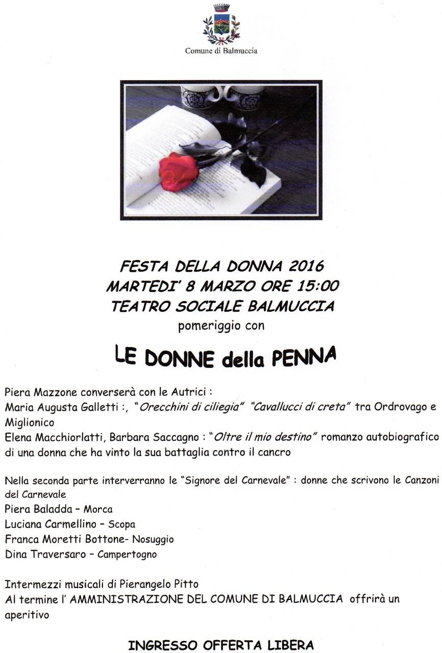 Balmuccia 08 marzo 2016 - Le donne della  Penna con Piera Mazzone