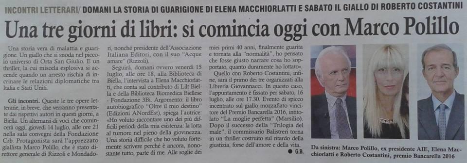 Eco di Biella, 14 luglio 2016