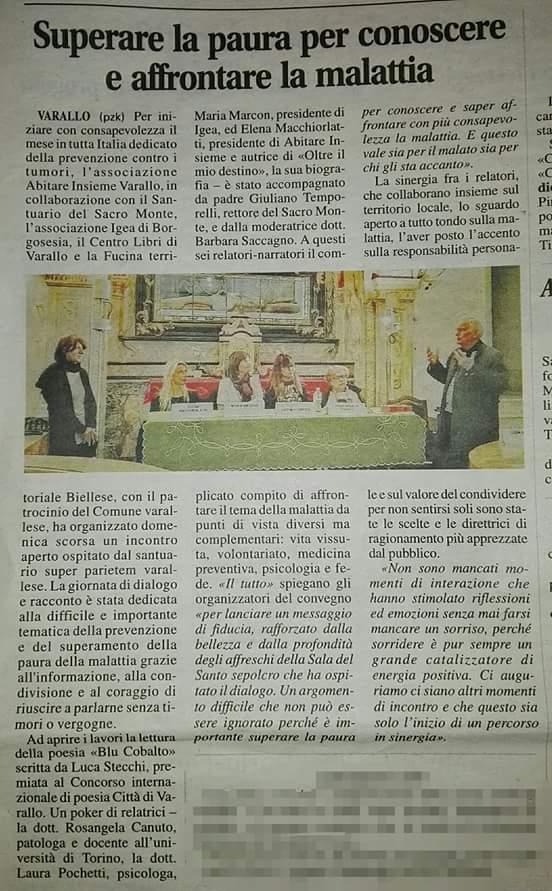 Corriere Valsesiano 03 Ottobre 2017 - Amici Non Per Caso