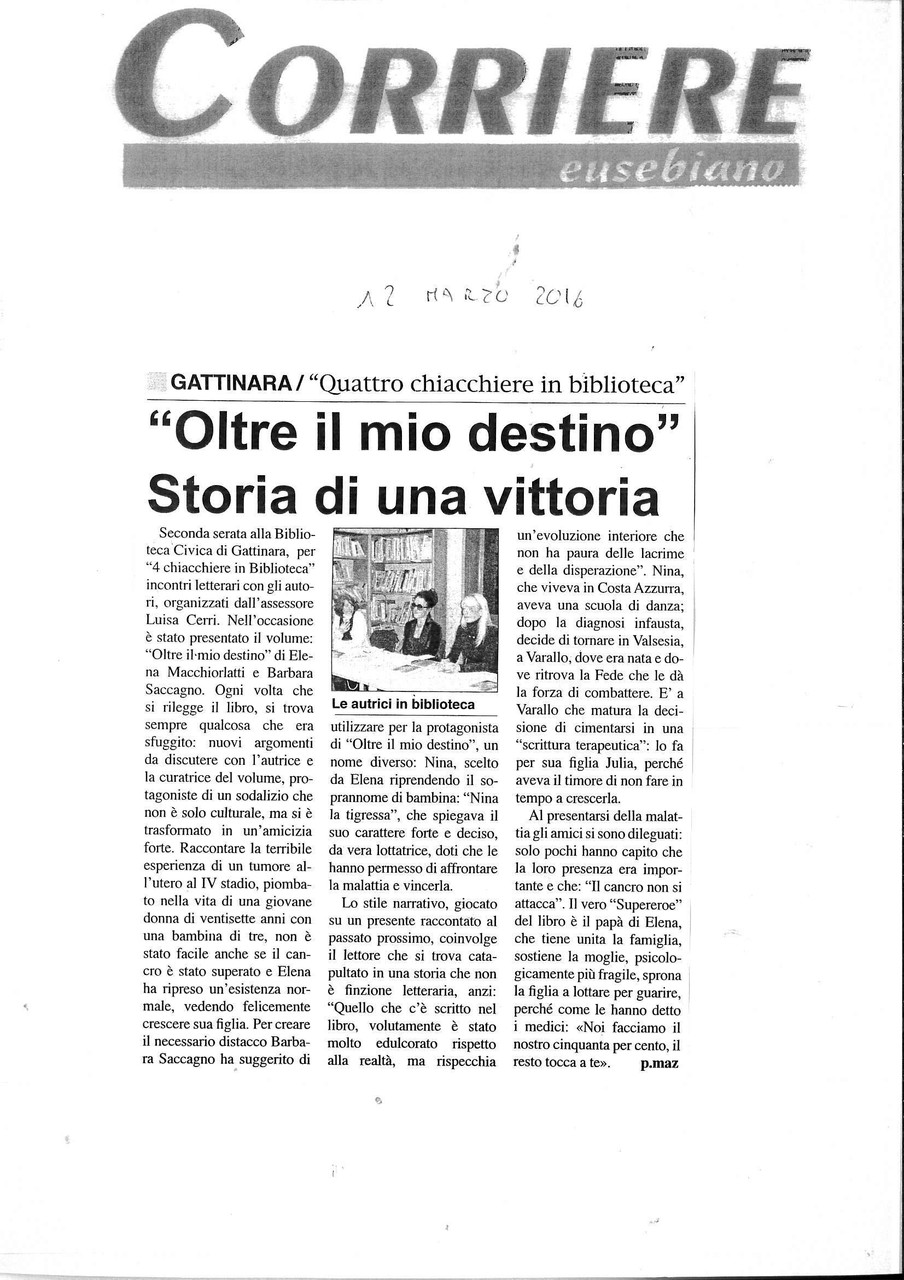 Corriere Eusebiano, 12 marzo 2016