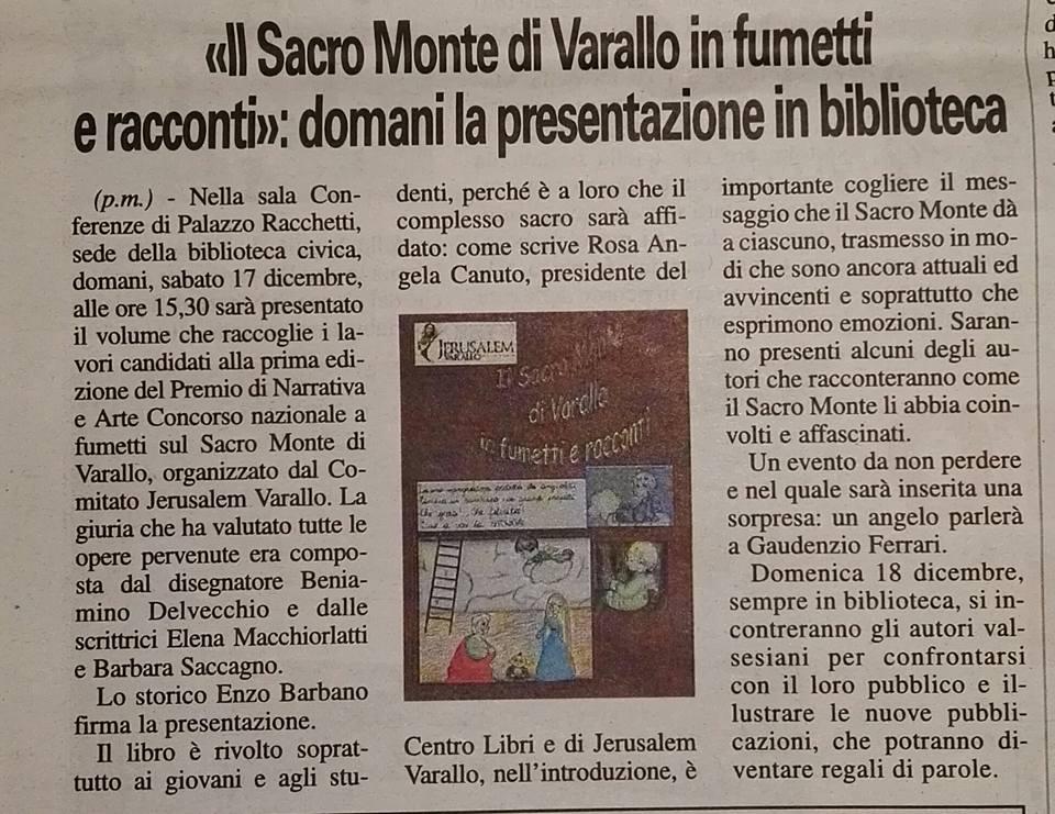 Corriere Valsesiano, 16 Dicembre 2016