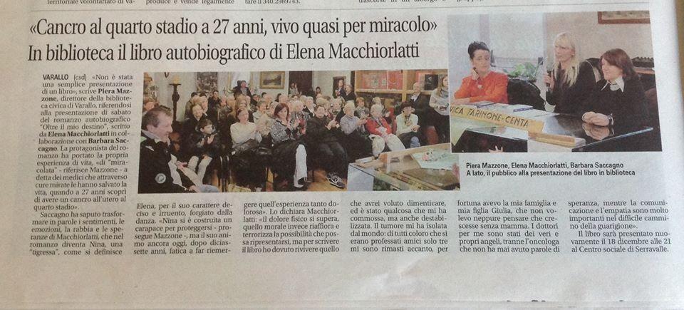 Notizia Oggi, 10 Dicembre 2015, a cura di Piera Mazzone