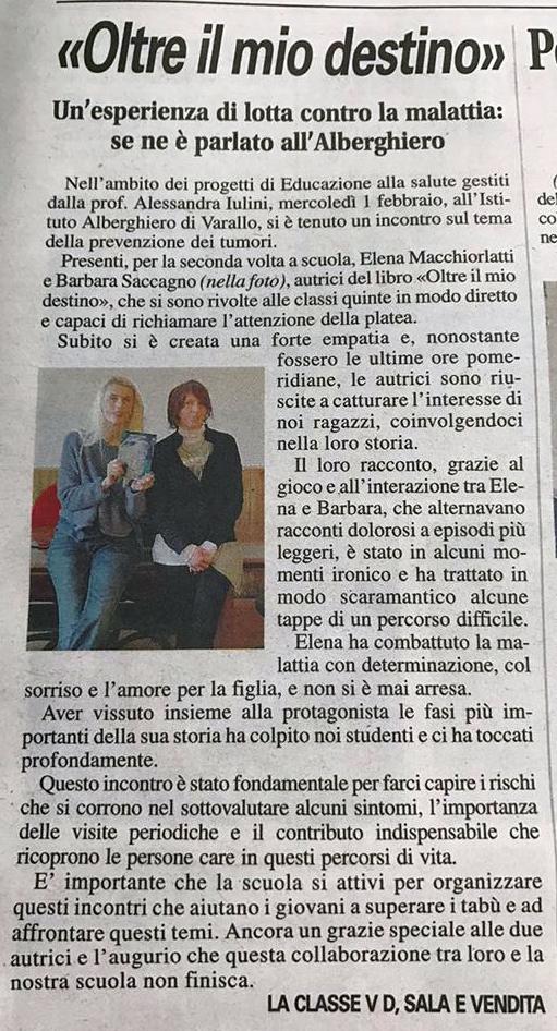 Corriere Valsesiano, 10 febbraio 2017