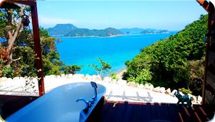 無人島群を目前に五島の大自然が愉しめる展望露天風呂