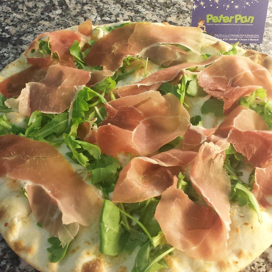 Pizza Stracchino,Rucola e Parma