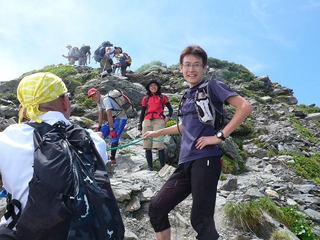 なんと!帝王柳下登場! 奈良田から農鳥、間ノ岳、北岳と縦走中。