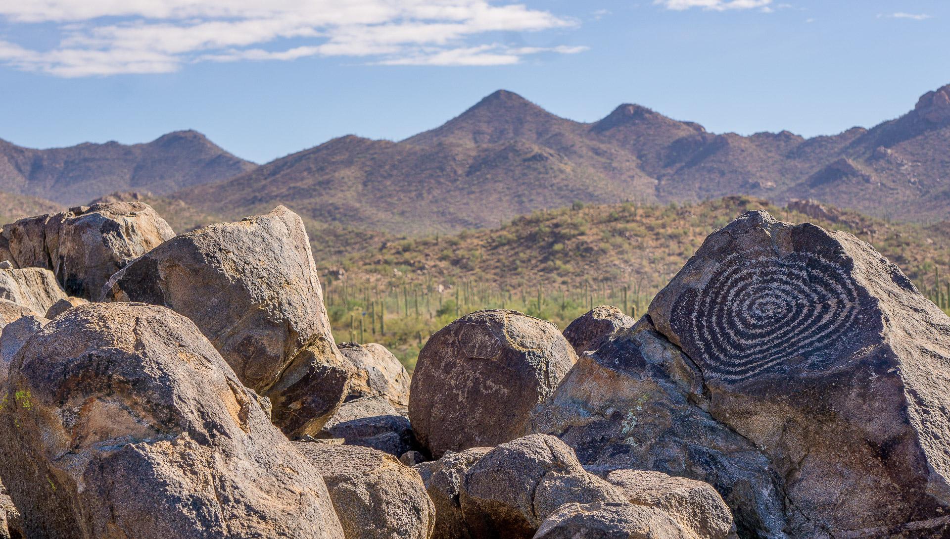 Dimanche 5 mars: Des pétroglyphes de plus de 800 ans au Saguaro NP, AZ
