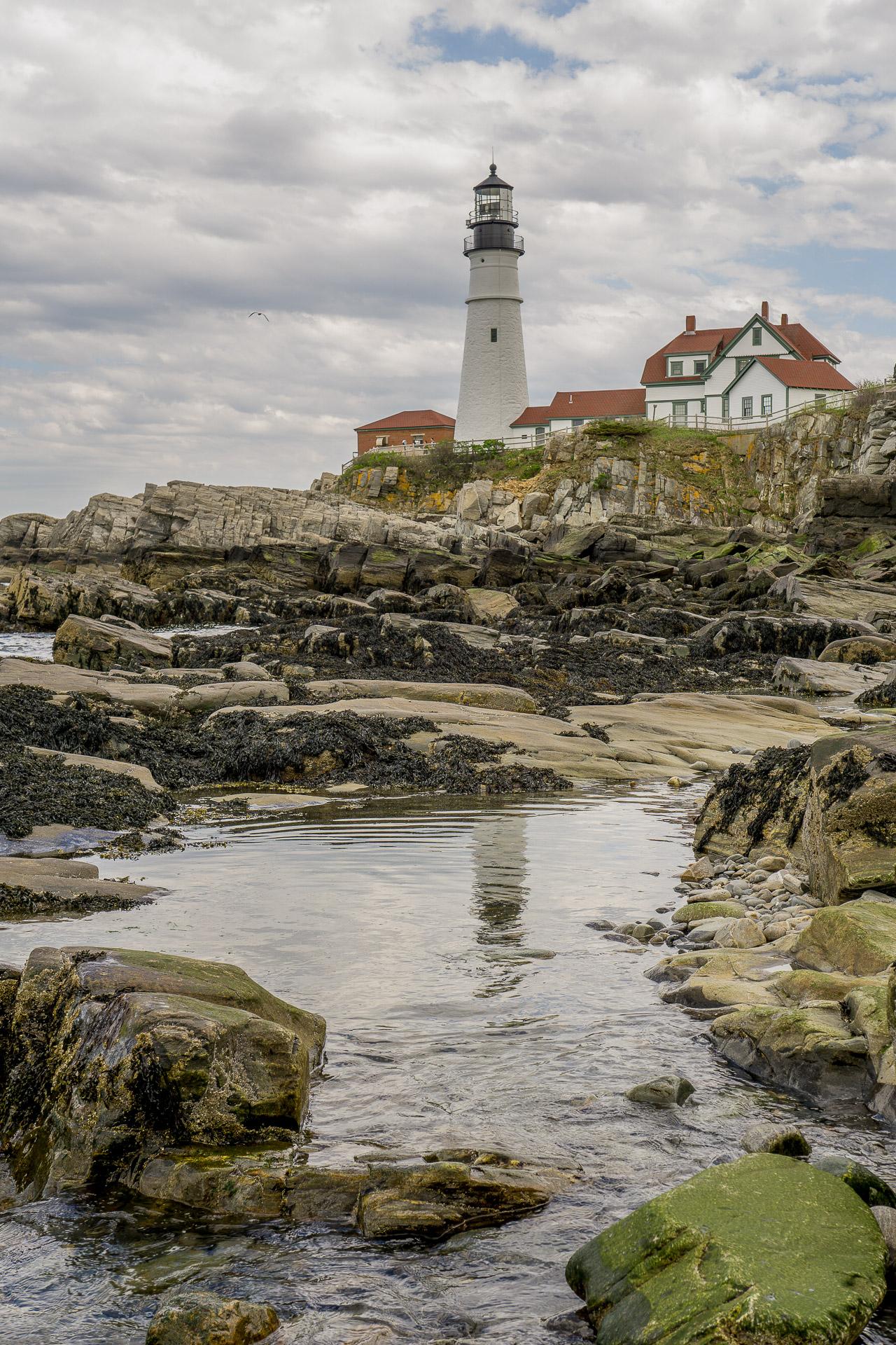 Dimanche 21 mai: Portland Head Light, le long de la route des phares, dans le Maine