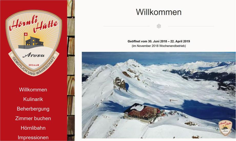 Velohotel und Skihotel - beides direkt ab der Hörnlihütte - ein gutes Berghotel auch mit Massenlager und feinem Essen!