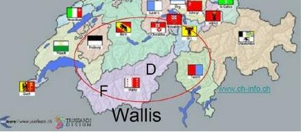 Velotouren Wallis Karte