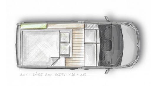Das Campingbus Bett