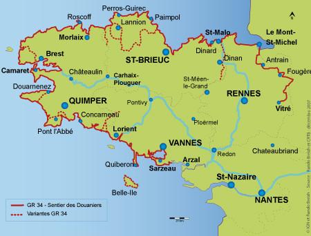 sentier des douaniers GR34 bretagne finistère découvrir randonnée randonner rando marche pied voyage weekend séjour vacances mer eau plage faune flore paysages visite
