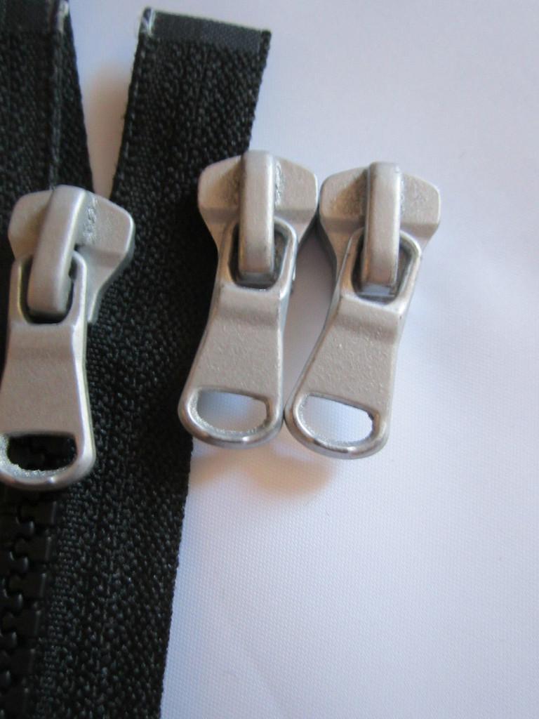 2 Wege Schieber Ersatz Zipper für Reißverschlüsse 6 mm Grobe Zähne Nummer 5