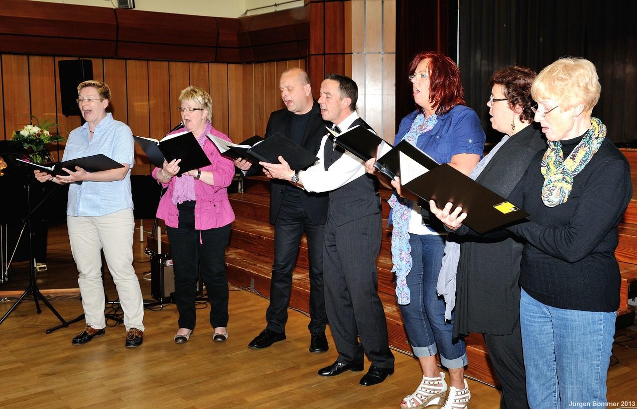 """Das Chorleiter-Ensemble """"Quartalium"""" begeisterte mit englischen und deutschen Stücken."""